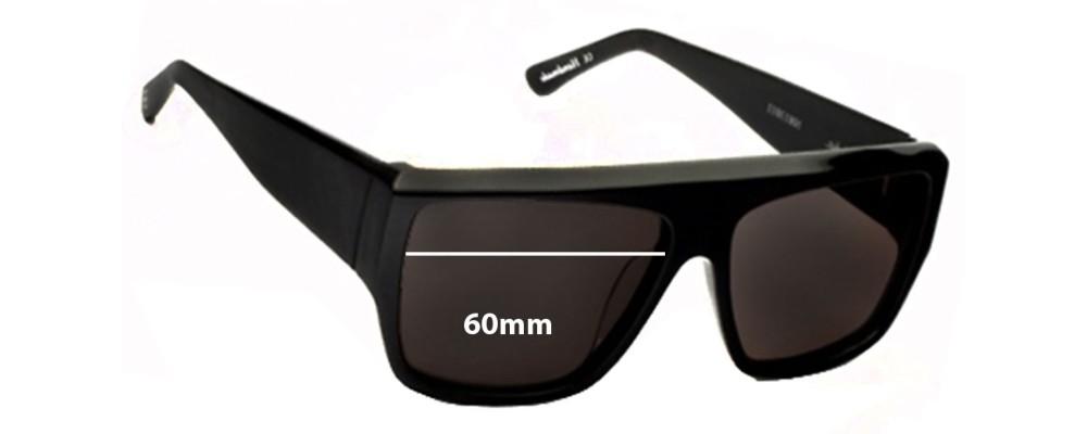 f64c4a2c92b Ksubi Skat Sunglass Replacement Lenses - 60mm wide