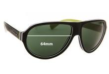 Sunglass Fix Sunglass Replacement Lenses for Dolce & Gabbana DG4204 - 64mm Wide