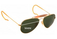 Sunglass Fix Sunglass Replacement Lenses for Ray Ban RB3030 Aviator Outdoorsman - 58mm Wide