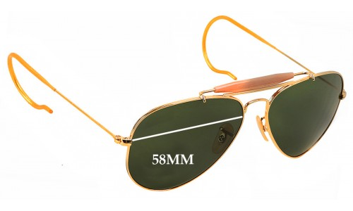 Sunglass Fix Sunglass Replacement Lenses for Ray Ban Aviator Outdoorsman RB3030 - 58mm Wide