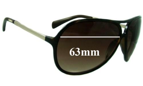 Sunglass Fix Sunglass Replacement Lenses for Prada SPR06N - 63mm Wide