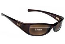 Sunglass Fix Sunglass Replacement Lenses for Maui Jim MJ105 Shaka - 55mm Wide