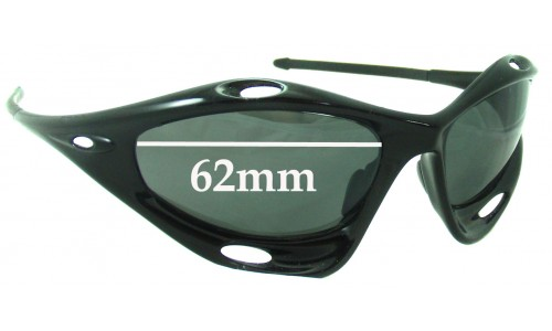 Sunglass Fix Sunglass Replacement Lenses for Oakley Water Jacket Generation 2 - Non Vented Lenses - Around 2006+ - 62mm Wide
