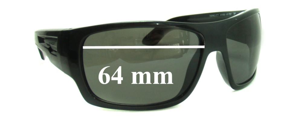 Sunglass Fix Sunglass Replacement Lenses for Arnette Derelict AN4149 - 64mm Wide