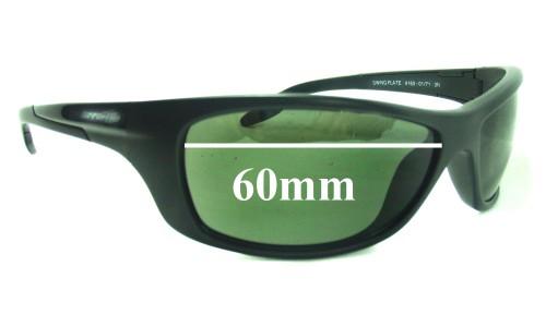 Sunglass Fix Sunglass Replacement Lenses for Arnette Swing Plate AN4160 - 60mm wide