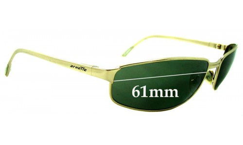 Sunglass Fix Sunglass Replacement Lenses for Arnette Steel Demon AN3001 - 61mm Wide