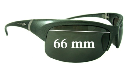 Sunglass Fix Sunglass Replacement Lenses for Arnette AN4089 - 66mm Wide