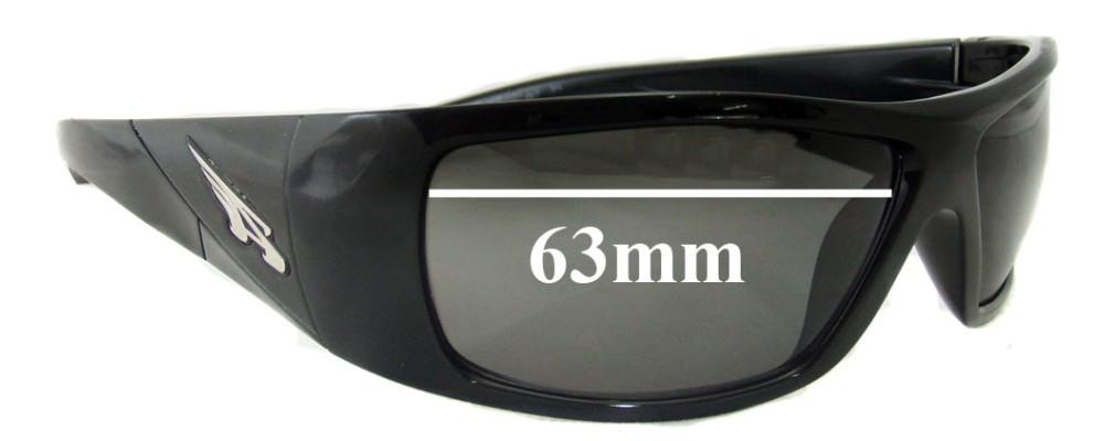Sunglass Fix Sunglass Replacement Lenses for Arnette The Score AN4113 - 63mm Wide