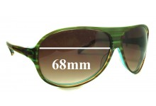 Sunglass Fix Sunglass Replacement Lenses for Christian Roth CR14274 - 68mm Wide