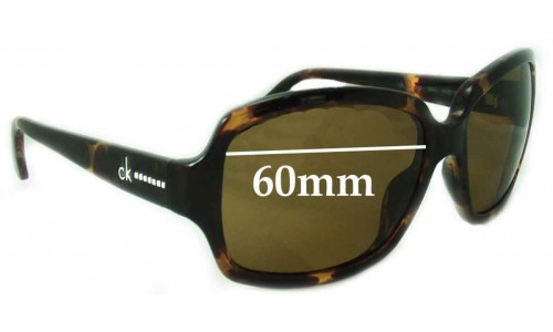 Sunglass Fix Sunglass Replacement Lenses for Calvin Klien CK3099S 60mm Wide