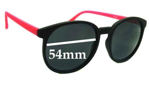 Sunglass Fix Sunglass Replacement Lenses for D-eye ZX2409 - 54mm Wide
