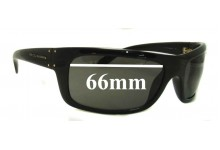 Sunglass Fix Sunglass Replacement Lenses for Dolce & Gabbana Unknown Model - 66mm Wide