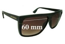 Sunglass Fix Sunglass Replacement Lenses for Emporio Armani EA 9605/S - 60mm Wide