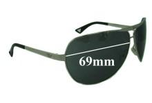 Sunglass Fix Sunglass Replacement Lenses for Emporio Armani EA 9367/S - 69mm Wide