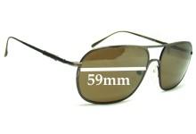 Sunglass Fix Sunglass Replacement Lenses for Ermenegildo Zegna SZ 3018N - 59mm Wide
