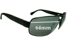 Sunglass Fix Sunglass Replacement Lenses for Ermenegildo Zegna SZ 3047 - 64mm Wide