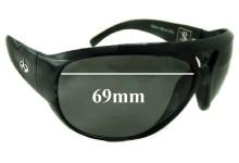 Sunglass Fix Sunglass Replacement Lenses for Evoke Sepultura BK004 - 69mm Wide