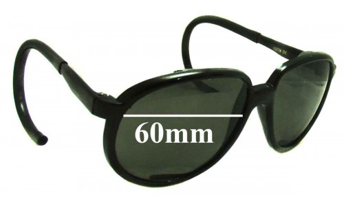 Sunglass Fix Sunglass Replacement Lenses for Faberge 4859-BZ  - 60mm Wide