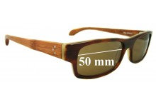 Sunglass Fix Sunglass Replacement Lenses for Fetch Masa Mahogany - 50mm Wide