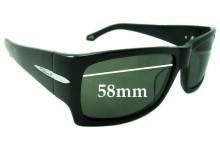 Sunglass Fix Sunglass Replacement Lenses for Flint Unknown Model - 58mm Wide