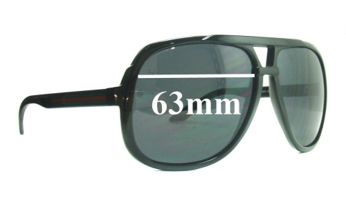 Sunglass Fix Sunglass Replacement Lenses for Gucci GG 1622/S - 63mm Wide