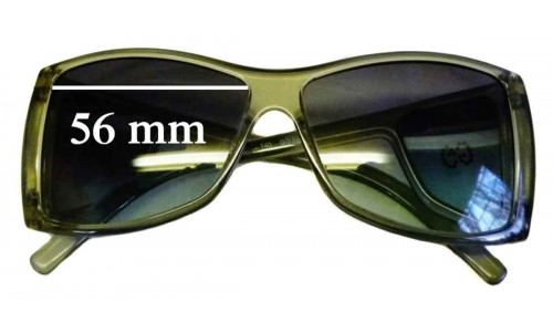 Sunglass Fix Sunglass Replacement Lenses for Gucci GG2466 Strass - 56mm wide by 44mm tall