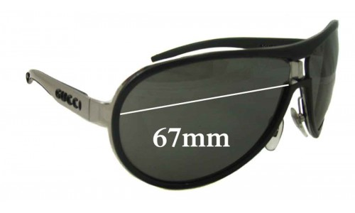 Sunglass Fix Sunglass Replacement Lenses for Gucci GG1566/S - 67mm Wide