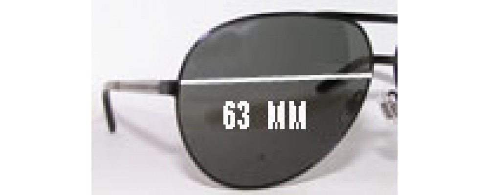 Sunglass Fix Sunglass Replacement Lenses for Gucci GG1933/S - 63mm Wide