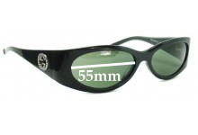 Sunglass Fix Sunglass Replacement Lenses for Gucci GG 2527/S - 55mm Wide