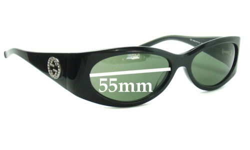 Sunglass Fix Sunglass Replacement Lenses for Gucci GG2527S - 55mm wide