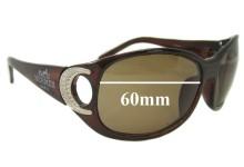Sunglass Fix Sunglass Replacement Lenses for Hermes 143T33 60 mm Wide