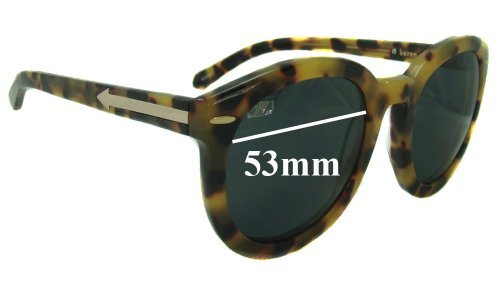 Sunglass Fix Sunglass Replacement Lenses for Karen Walker Super Duper Strength - 53mm Wide