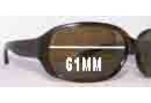 Sunglass Fix Sunglass Replacement Lenses for Marc by Marc Jacobs MMJ 007/P/S - 61mm Wide