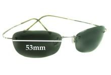 Sunglass Fix Sunglass Replacement Lenses for Maui Jim MJ503 Wailea - 53mm Wide