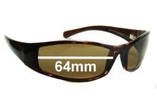 Sunglass Fix Sunglass Replacement Lenses for Maui Jim MJ106 Hoku - 64mm Wide