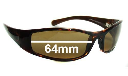 Sunglass Fix Sunglass Replacement Lenses for Maui Jim MJ106 HOKO - 64mm Wide