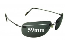 Sunglass Fix Sunglass Replacement Lenses for Maui Jim MJ311 Mauna Loa - 59mm Wide