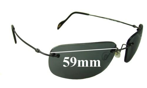 Sunglass Fix Sunglass Replacement Lenses for Maui Jim MJ311 - 59mm Wide
