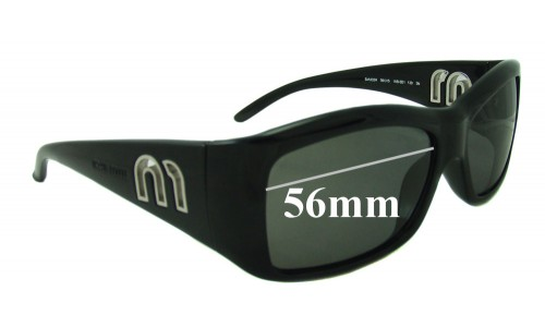 Sunglass Fix Sunglass Replacement Lenses for Miu Miu SMU02H - 56mm Wide