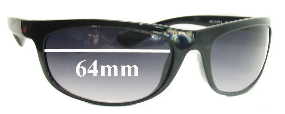 Sunglass Fix Sunglass Replacement Lenses for New Balance NBSUN374-3 - 64mm Wide