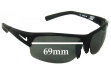 Sunglass Fix Sunglass Replacement Lenses for Nike Show X2 EV0672 - 69mm Wide