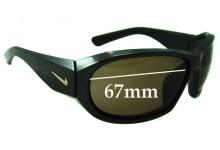Sunglass Fix Sunglass Replacement Lenses for Nike Fuse EVO 523 EVO 522 - 67mm Wide