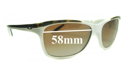 Sunglass Fix Sunglass Replacement Lenses for Oakley Confront OO2024 - 58mm Wide