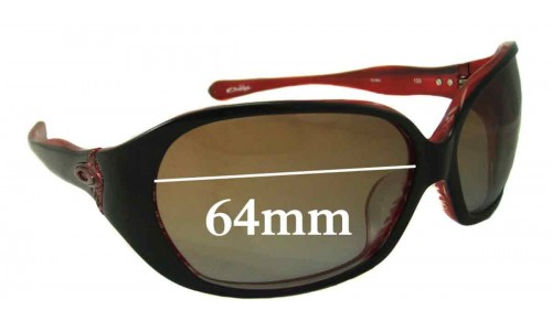 Sunglass Fix Sunglass Replacement Lenses for Oakley Betray ASIAN FIT - 64mm wide