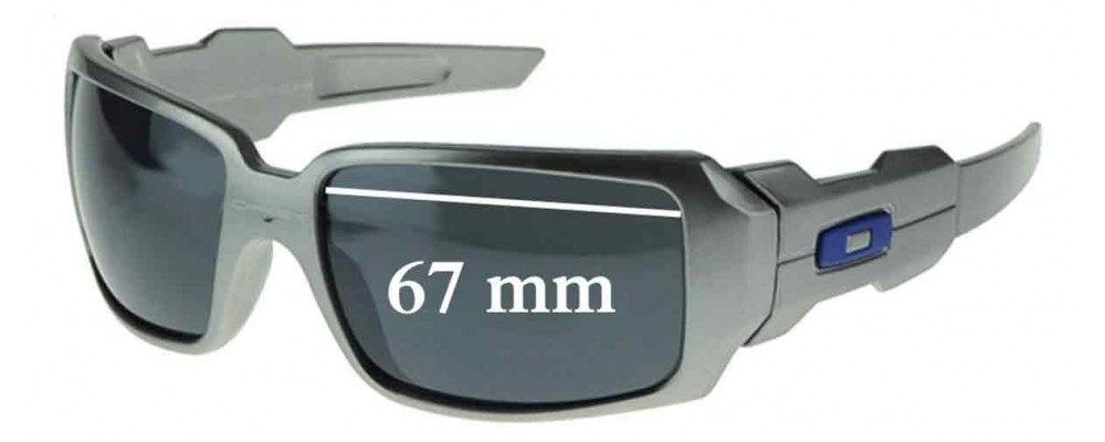 8cd2d6d906 Oakley Oil Rig Sunglass Replacement Lenses - TWO LENSES - Not Goggles- -  67mm wide