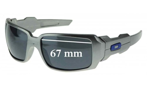 Sunglass Fix Sunglass Replacement Lenses for Oakley Oil Rig - TWO LENSES - Not Goggles - 67mm Widev