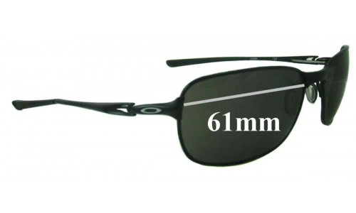 Sunglass Fix Sunglass Replacement Lenses for Oakley C-Wire New - 61mm Wide