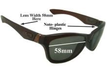 Sunglass Fix Sunglass Replacement Lenses for Oakley Jupiter - 58mm Wide