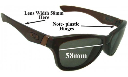 Sunglass Fix Sunglass Replacement Lenses for Oakley Jupiter - 58mm wide *Please Measure As There are 2 Sizes*