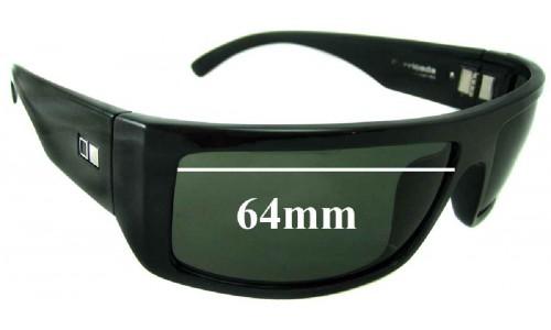 Sunglass Fix Sunglass Replacement Lenses for Otis Barricade - 64mm Wide